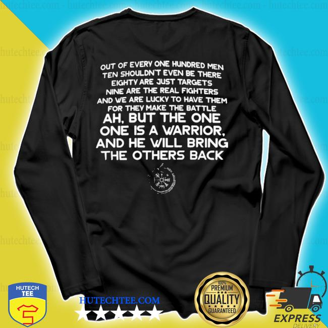 Out of every one hundred men ten shouldn't even be there eighty are just targets 2020 s longsleeve