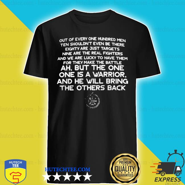 Out of every one hundred men ten shouldn't even be there eighty are just targets 2020 shirt