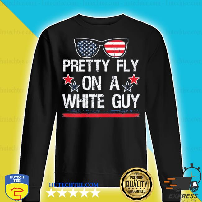 Pretty fly on a white guy us flag s sweater