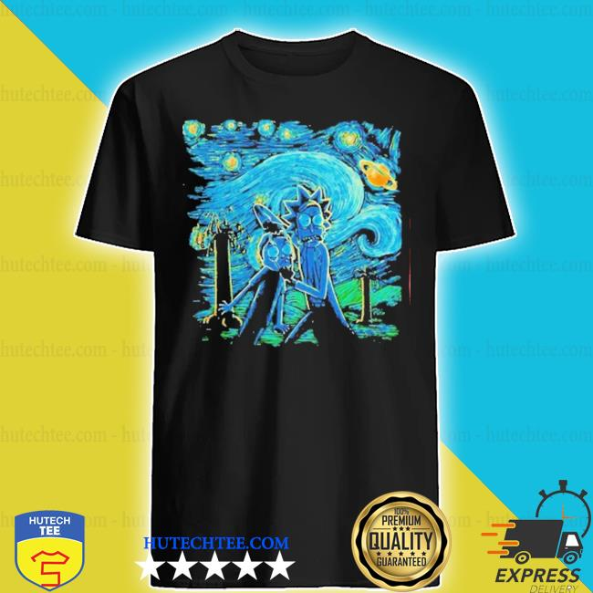 Rick and morty the scream painting shirt