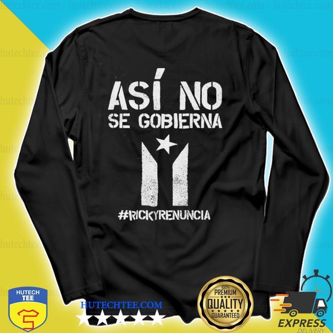 #rickyrenunciaricky renuncia bandera negra puerto rico flag s longsleeve
