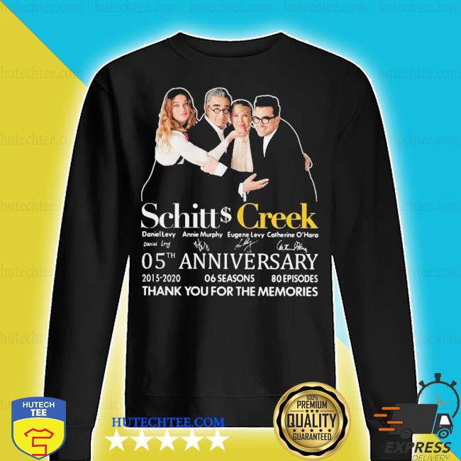 Schitts creek signatures 05th anniversary thank you for the memories s sweater