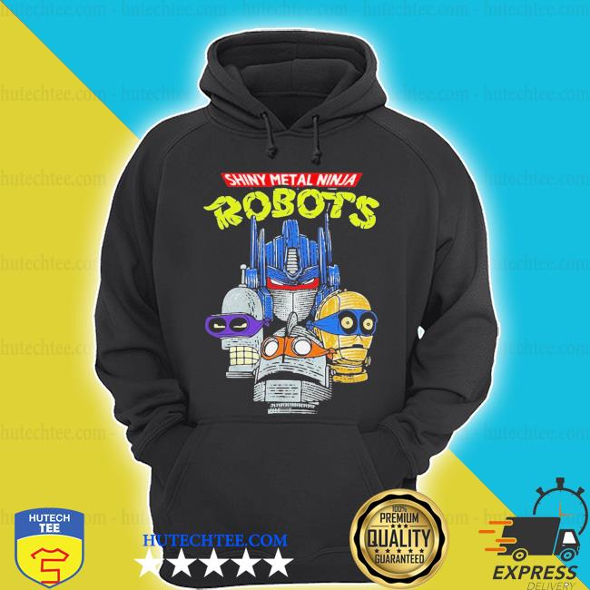 Shiny metal ninja robots s hoodie