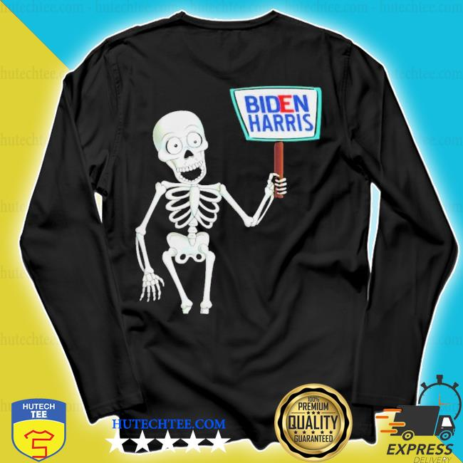 Skeleton voting 2020 monsters vote for joe bidens s longsleeve
