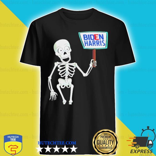 Skeleton voting 2020 monsters vote for joe bidens shirt