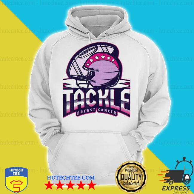 Tackle breast cancer awareness american football essential s hoodie