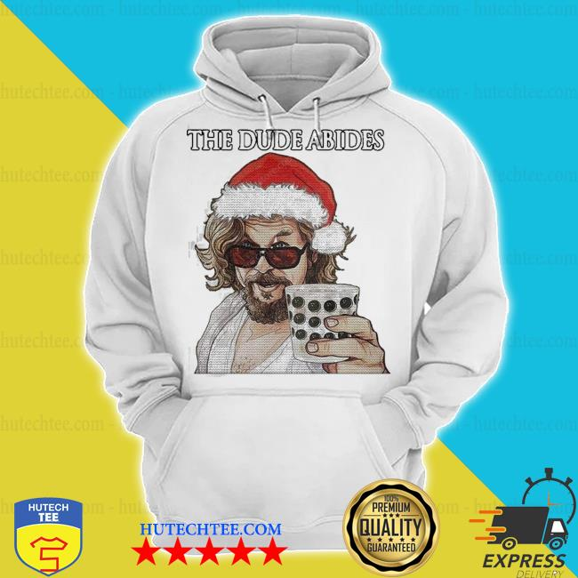 The big lebowski the dude abides ugly christmas s hoodie