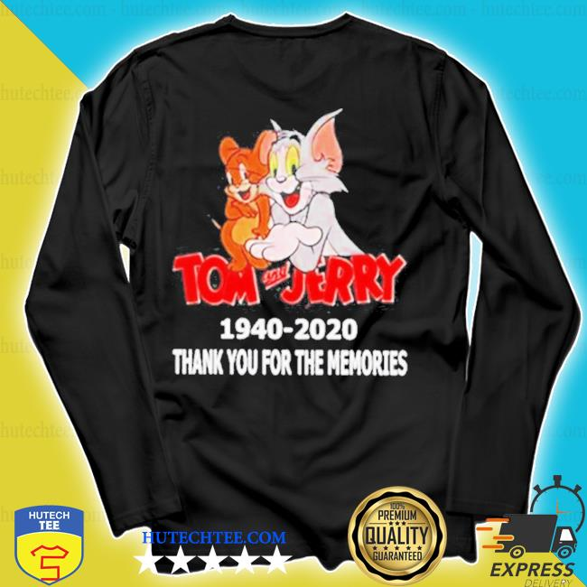 Tom and jerry film series 1940-2020 thank you for the memories s longsleeve