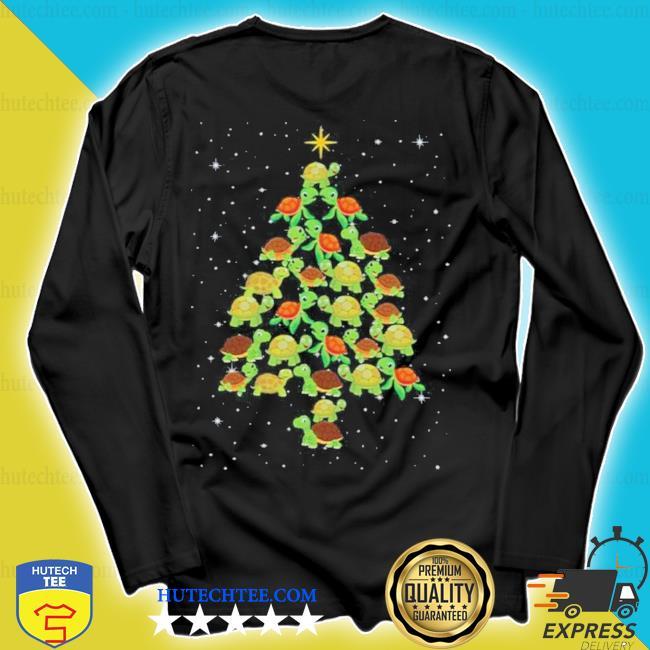 Turtle Christmas tree ugly christmas sweater longsleeve