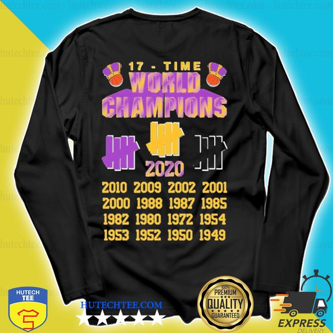 Undefeated lakers 17 time champions s longsleeve