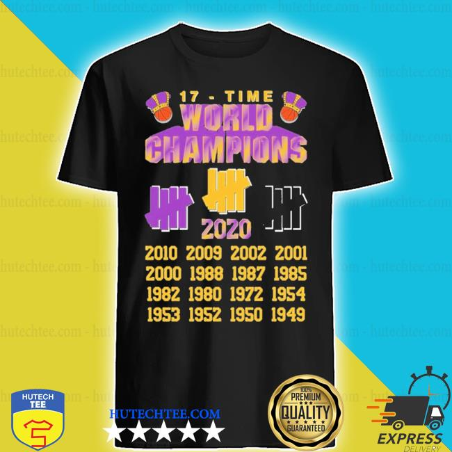 Undefeated lakers 17 time champions shirt