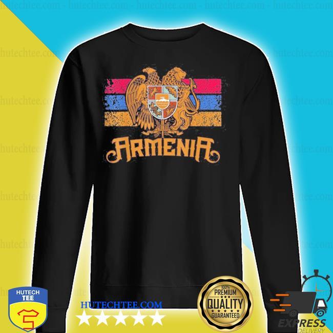Vintage armenia flag family crest armenian country s sweater
