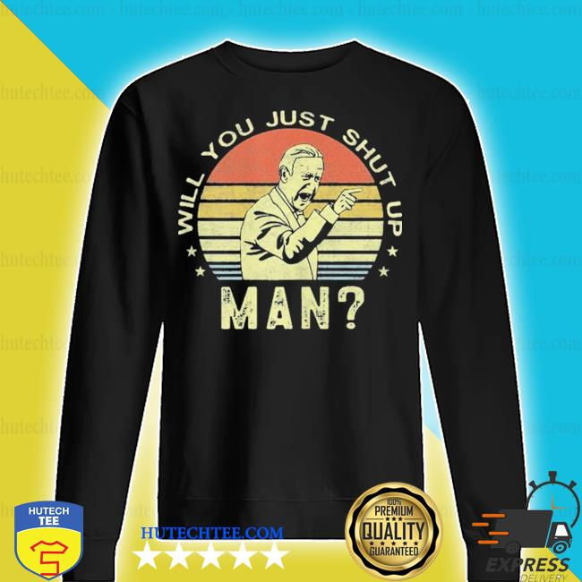 Will you just shut up man joe biden vintage sunset 2020 s sweater