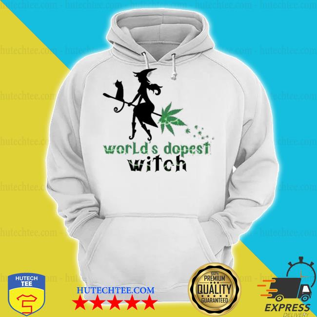 World's dopest witch cannabis weed girl s hoodie