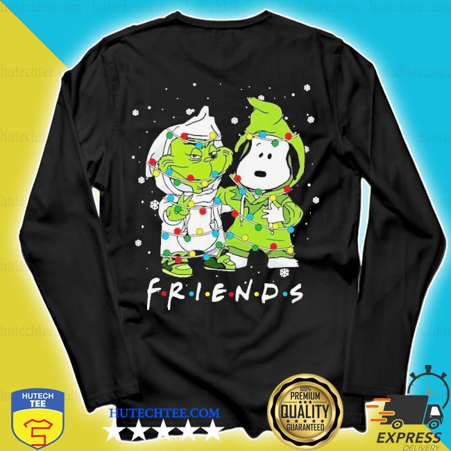 Baby grinch and snoopy friends merry Christmas light sweater longsleeve