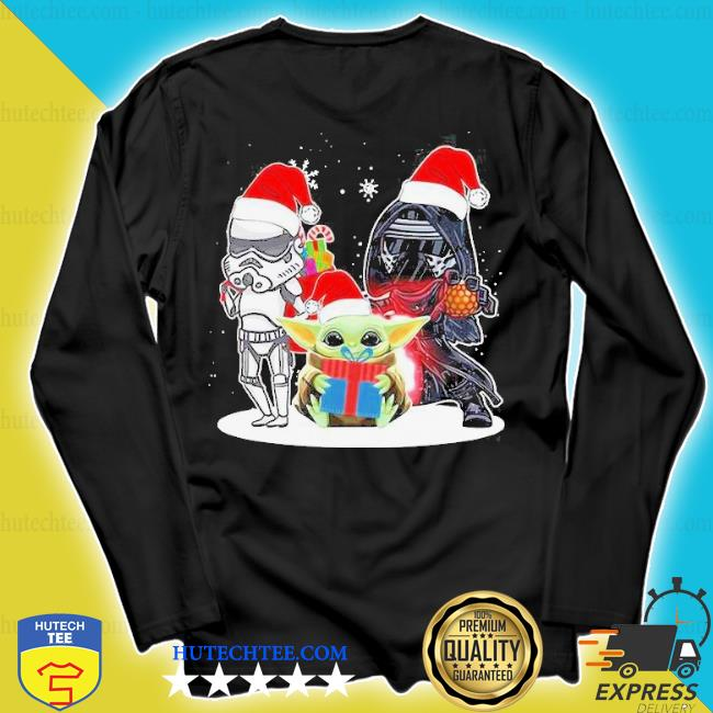Baby yoda and darth vader stormtrooper merry Christmas sweater longsleeve