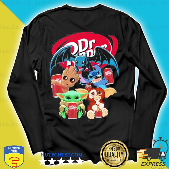 Baby yoda baby groot and toothless stitch gizmo hug dr pepper s longsleeve