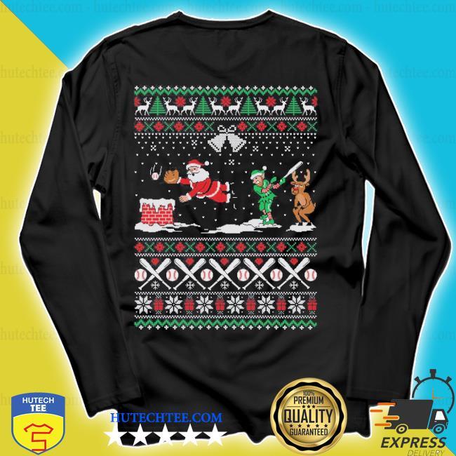Baseball ugly Christmas sweater longsleeve