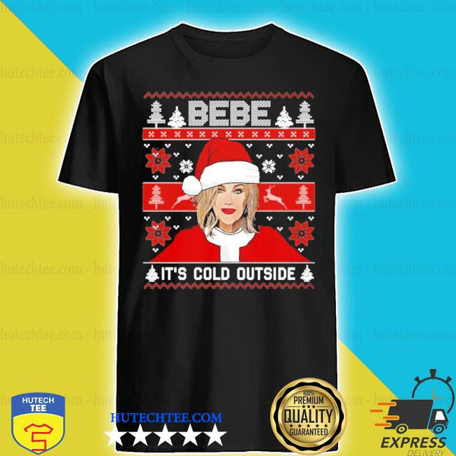 Bebe it's cold outside ugly christmas sweater