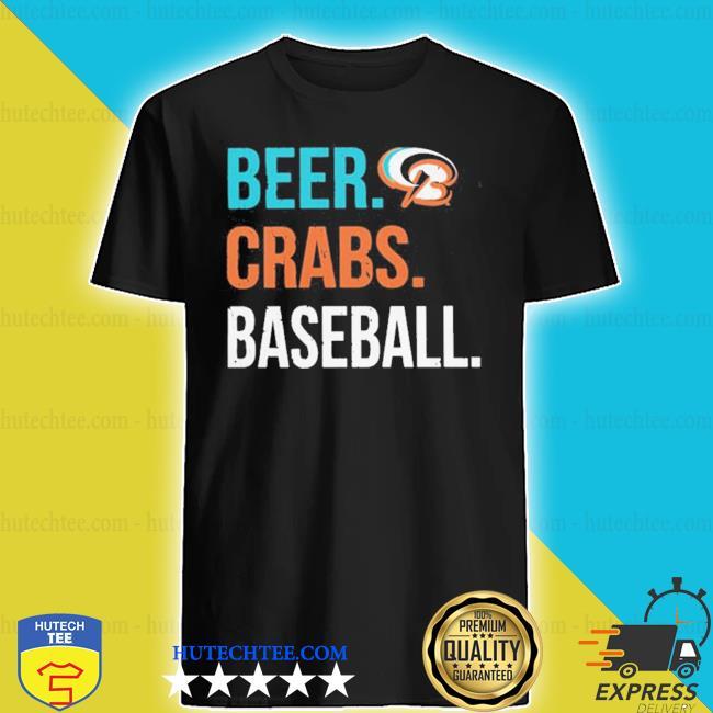 Beer crabs baseball shirt