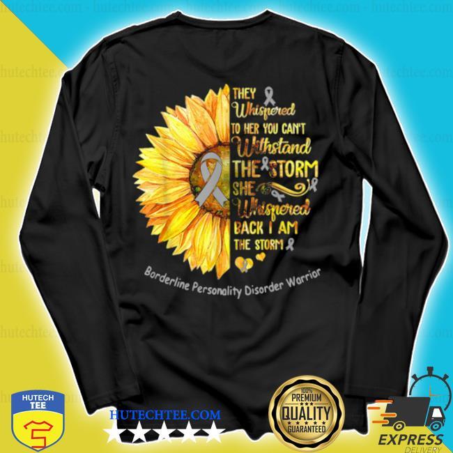 Borderline personality disorder warrior breast cancer sunflower s longsleeve