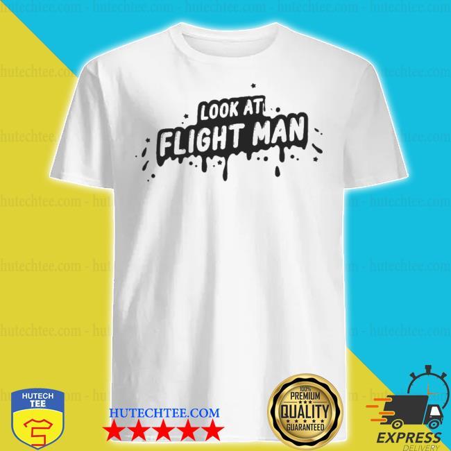 Flightreacts merch look at flight man shirt