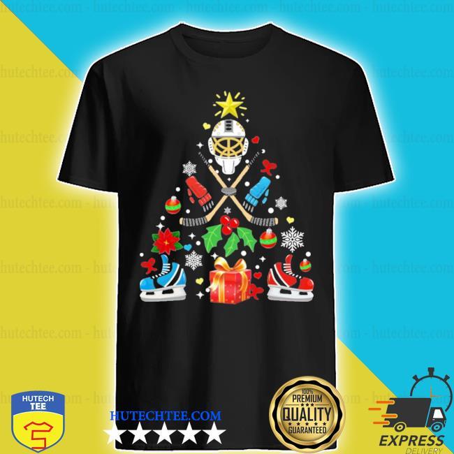 Hockey christmas tree ugly christmas sweater