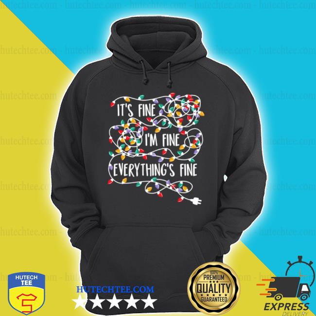 It's fine i'm fine everything is fine Christmas light sweater