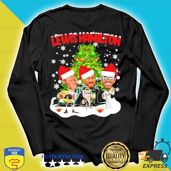 Lewis hamilton chibi Christmas tree sweater longsleeve