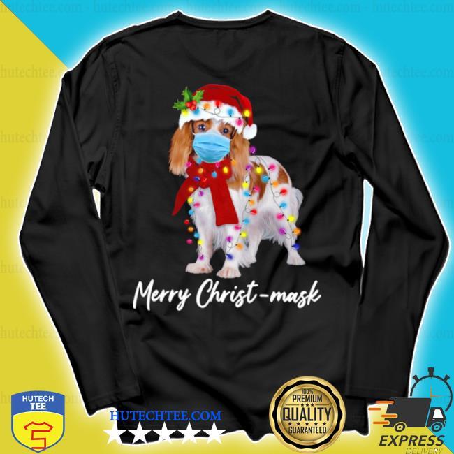 Merry christ mask merry Christmas light ugly sweater longsleeve
