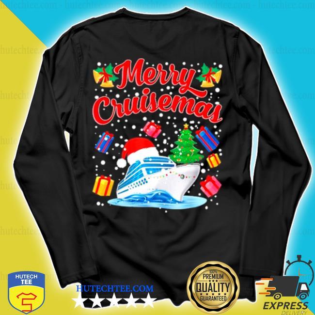 Merry cruisemas family cruise Christmas 2020 santa hat sweater longsleeve