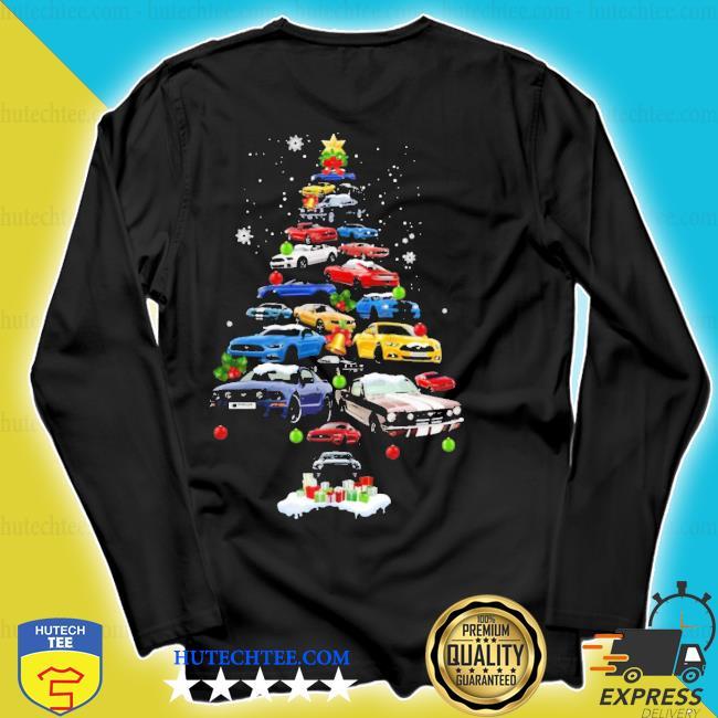 Mustang car Christmas tree sweater longsleeve