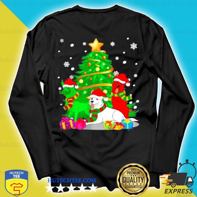 Santa german shepherd dogs Christmas tree 2020 sweater longsleeve