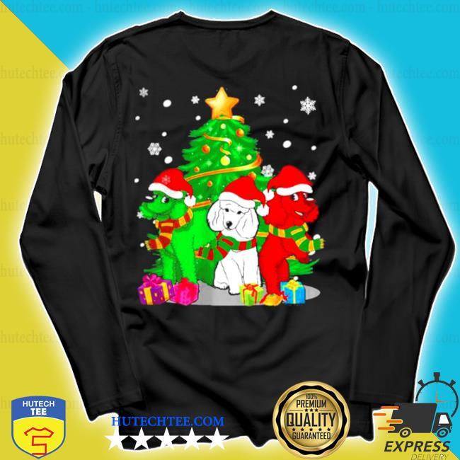 Santa poodle dogs Christmas 2020 sweater longsleeve