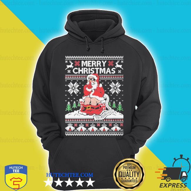 Santa toilet ugly Christmas sweater