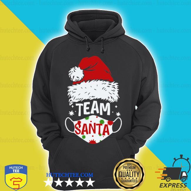 Team santa face mask Christmas 2020 cost shirt