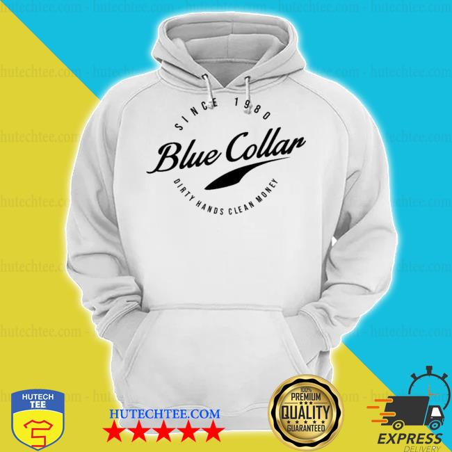 Acal clothing merch blue collar s hoodie