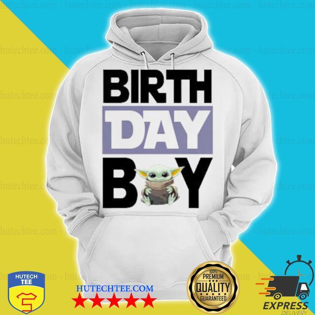 Baby Yoda birthday boy s hoodie