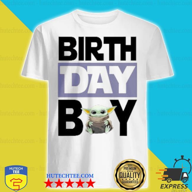 Baby Yoda birthday boy shirt