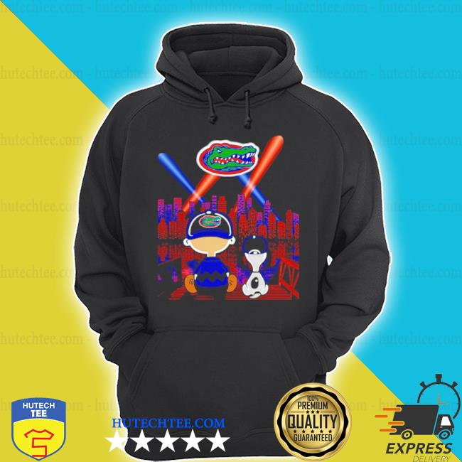 Charlie brown and snoopy florida gators city by night s hoodie
