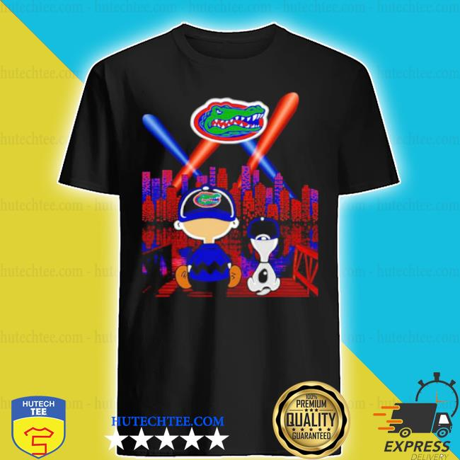 Charlie brown and snoopy florida gators city by night shirt