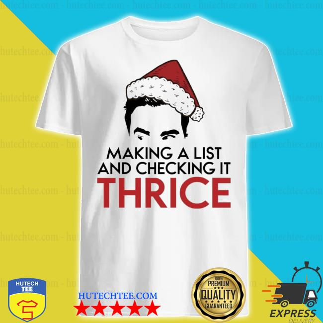 David rose make a list and checking it thrice Christmas sweater