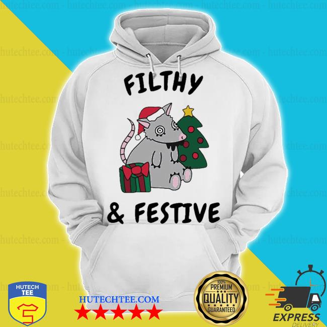 Filthy and festive Christmas mouse s hoodie