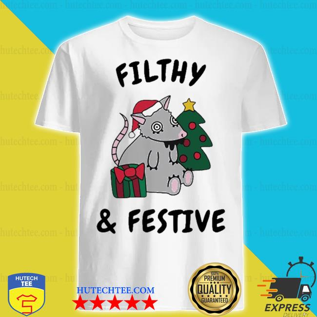 Filthy and festive Christmas mouse shirt