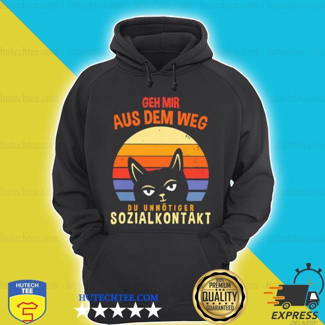 Geh mir aus dem weg du unnötiger sozialkontakt cat vintage sunset s hoodie