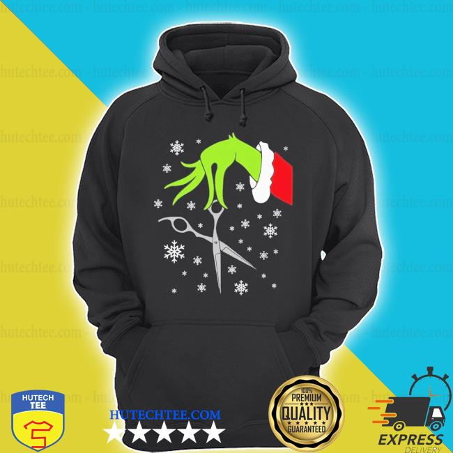 Grinch funny Christmas hair stylist s hoodie