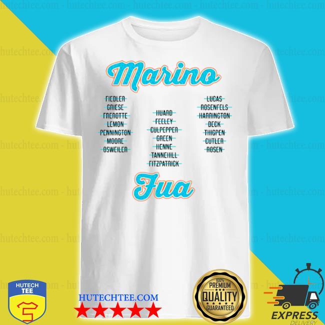 Miami dolphins from marino to tua shirt