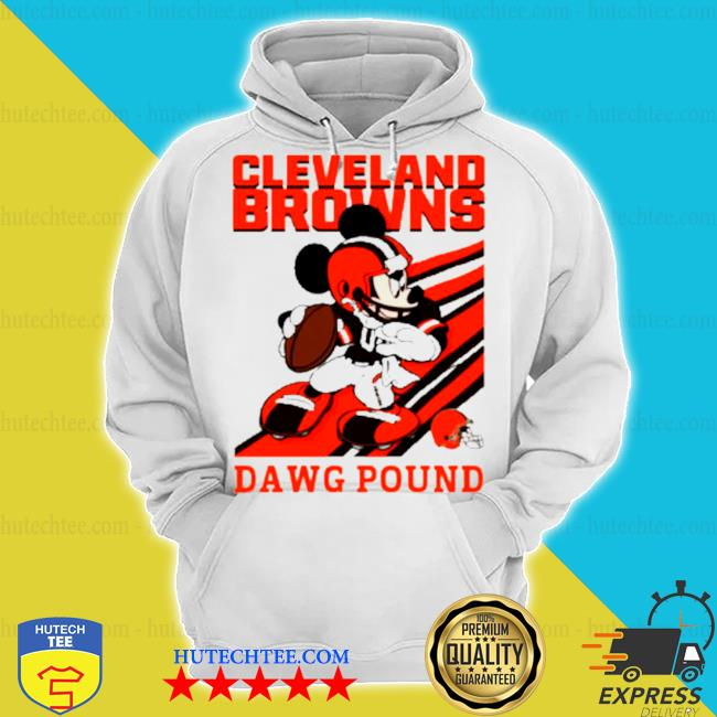 Mickey mouse cleveland browns dawg pound s hoodie