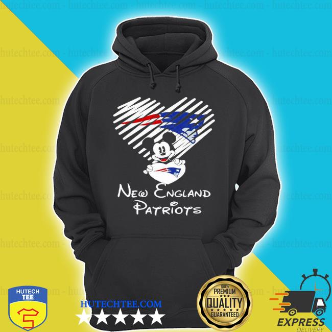 Mickey mouse love new england Patriots s hoodie