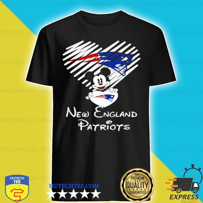 Mickey mouse love new england Patriots shirt
